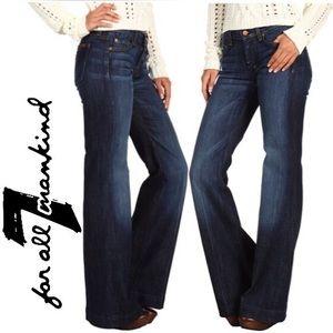 7 for all Mankind Dark Dojo Flare Jeans